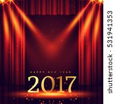 stage background with 2017... | Shutterstock .eps vector #531941353