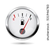 fuel gauge with chrome frame.... | Shutterstock . vector #531946783