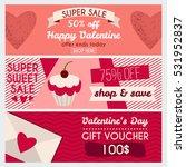 set od modern flat valentine's...   Shutterstock .eps vector #531952837