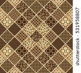 vector gold hand drawn seamless ... | Shutterstock .eps vector #531958807