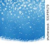 falling christmas shining ... | Shutterstock .eps vector #531959173