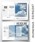 set of business templates for... | Shutterstock .eps vector #531962347
