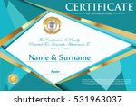 certificate retro design... | Shutterstock .eps vector #531963037