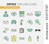 optician thin line vector icons ... | Shutterstock .eps vector #531975787