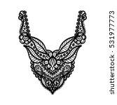 floral neckline design for... | Shutterstock . vector #531977773