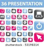 36 presentation buttons. vector | Shutterstock .eps vector #53198314