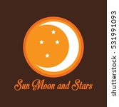 sun moon and stars all in one... | Shutterstock .eps vector #531991093
