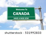 green overhead road sign with a ... | Shutterstock . vector #531992833