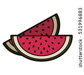 isolated watermelon fruit design | Shutterstock .eps vector #531996883
