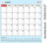 2017 calendar planner design ... | Shutterstock .eps vector #532014127