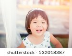 little girl child showing front ... | Shutterstock . vector #532018387