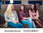 beautiful girls sitting on the... | Shutterstock . vector #532018837