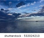 evening sky by seaside digital... | Shutterstock . vector #532024213