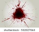 vector blood color splatter... | Shutterstock .eps vector #532027063