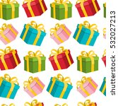 seamless gift boxes background. ... | Shutterstock .eps vector #532027213