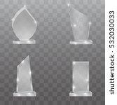 glass trophy awards. vector... | Shutterstock .eps vector #532030033