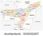 assam administrative and... | Shutterstock .eps vector #532033207