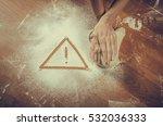 unhealthy white flour or dough  ... | Shutterstock . vector #532036333