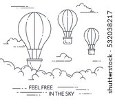 hot air balloon in the sky with ... | Shutterstock .eps vector #532038217