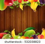 fresh fruits background. vector ... | Shutterstock .eps vector #532038823