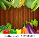 vegetables on a wooden... | Shutterstock .eps vector #532038847