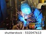 welders working at the factory... | Shutterstock . vector #532047613