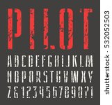 narrow sanserif stencil plate... | Shutterstock .eps vector #532052503