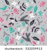 winter christmas seamless...   Shutterstock .eps vector #532059913