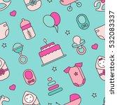 baby. seamless pattern.  vector ...   Shutterstock .eps vector #532083337