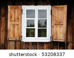Window Of A Old Wooden Cottage