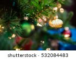 christmas tree with ornaments ... | Shutterstock . vector #532084483