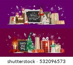 christmas and new year... | Shutterstock .eps vector #532096573