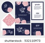 set of templates  for wedding... | Shutterstock .eps vector #532110973