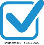blue check in box | Shutterstock .eps vector #532112023