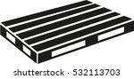 euro pallet | Shutterstock .eps vector #532113703