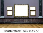 art museum frame wall ornate... | Shutterstock . vector #532115977