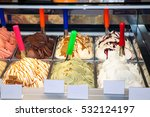 different kind of ice cream.... | Shutterstock . vector #532124197