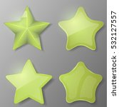 set of green stars. collection... | Shutterstock .eps vector #532127557