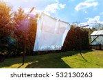 Laundry Drying.sheet Hanging O...