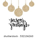 hanging christmas ball with a... | Shutterstock .eps vector #532136263