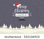 christmas greeting card with... | Shutterstock .eps vector #532136923