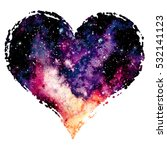Heart With Watercolor Nebula...