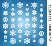 Set Of White Snowflakes...