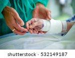 doctor comforting a patient in... | Shutterstock . vector #532149187