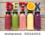 assorted flavoured smoothie... | Shutterstock . vector #532161013