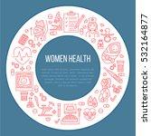 medical poster template. vector ... | Shutterstock .eps vector #532164877