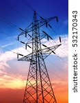 high voltage post or high... | Shutterstock . vector #532170343