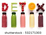 detox word made with fruits... | Shutterstock . vector #532171303