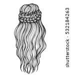 sketch illustration of long... | Shutterstock .eps vector #532184263