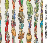 seamless pattern with random... | Shutterstock .eps vector #532185823